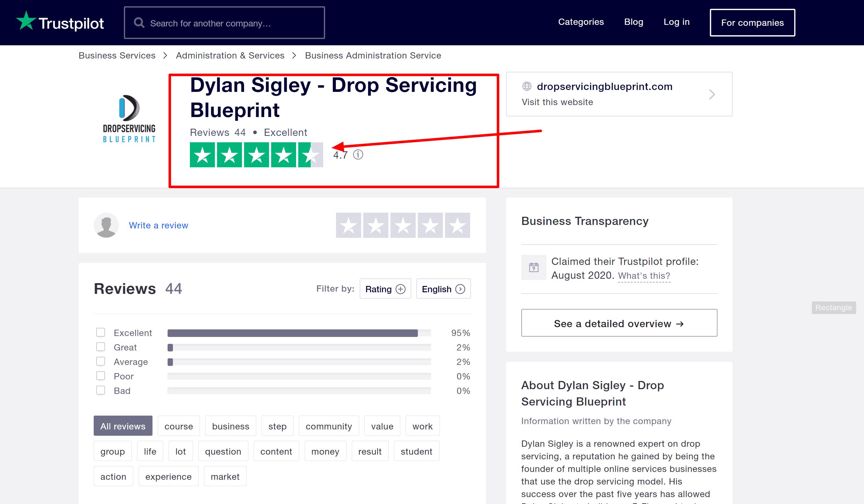 Dylan Sigley - Drop Servicing Blueprint Reviews Read Customer Service