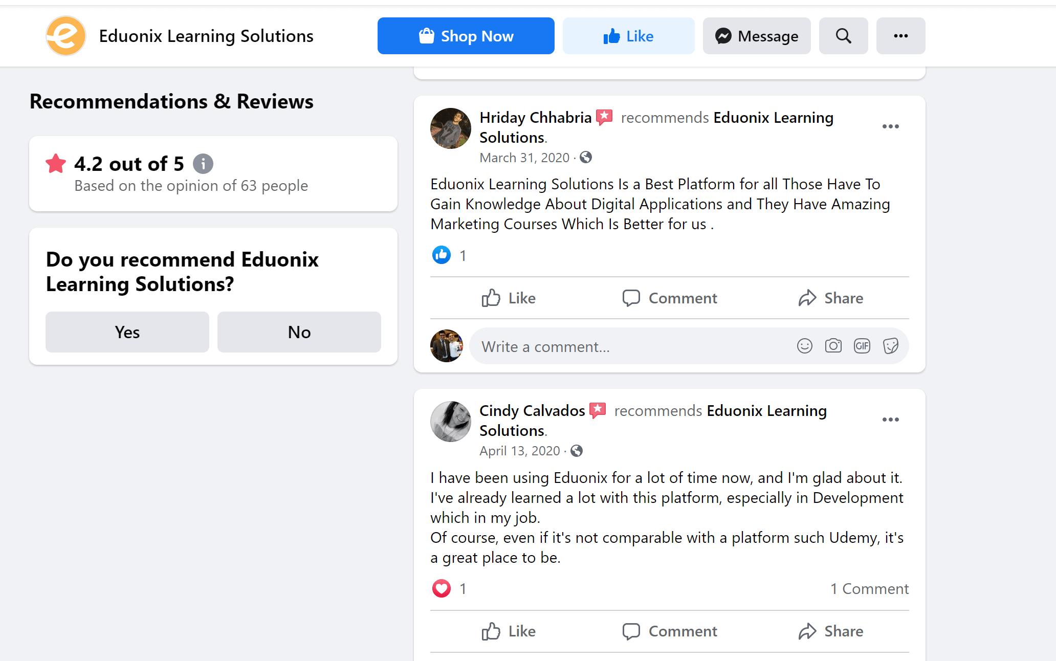 Eduonix Reviews online
