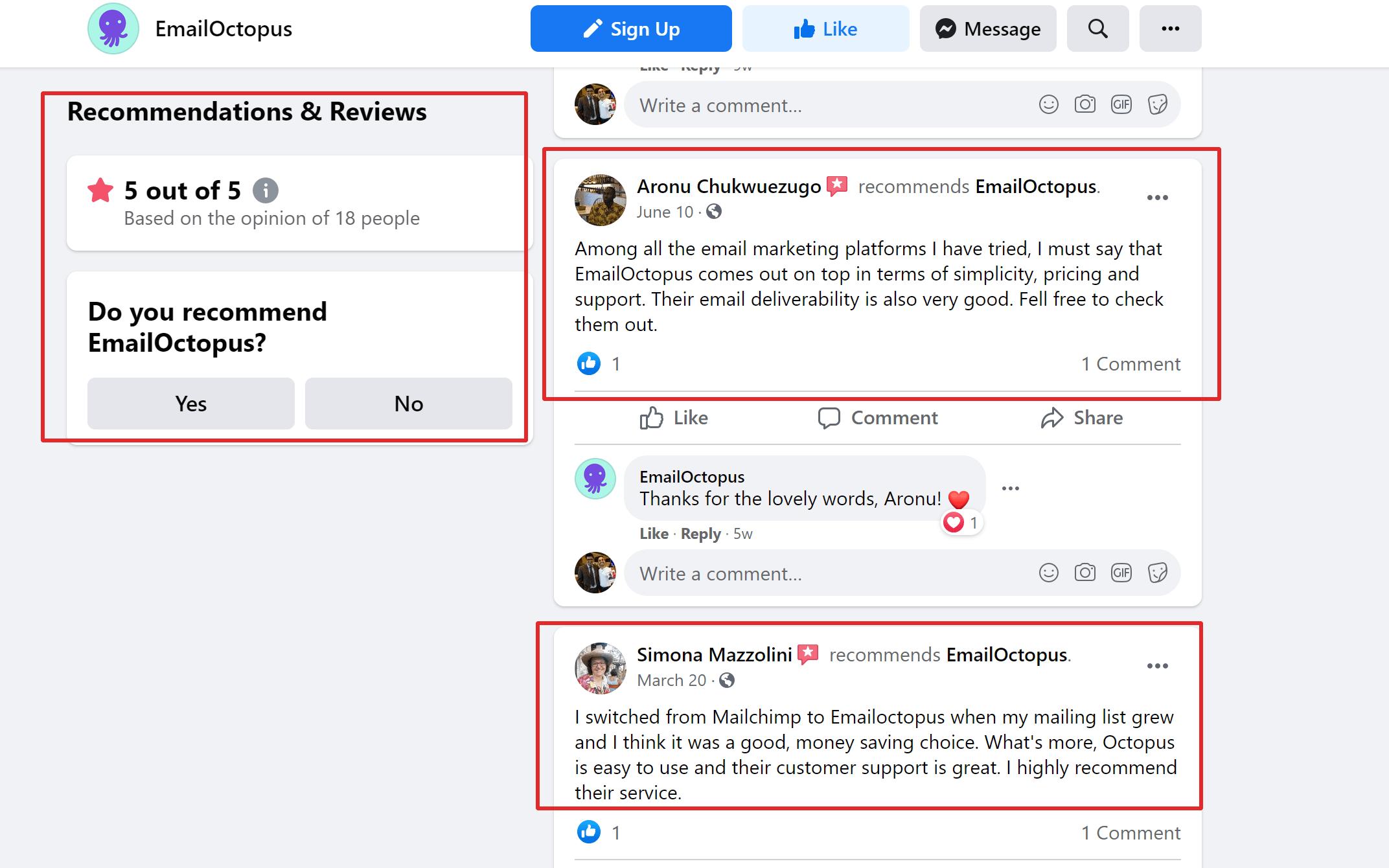 Emailoctopus reviews