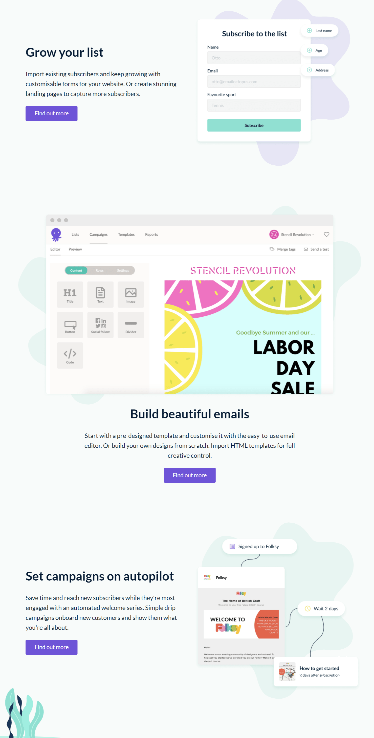 Features – Emailoctopus Review
