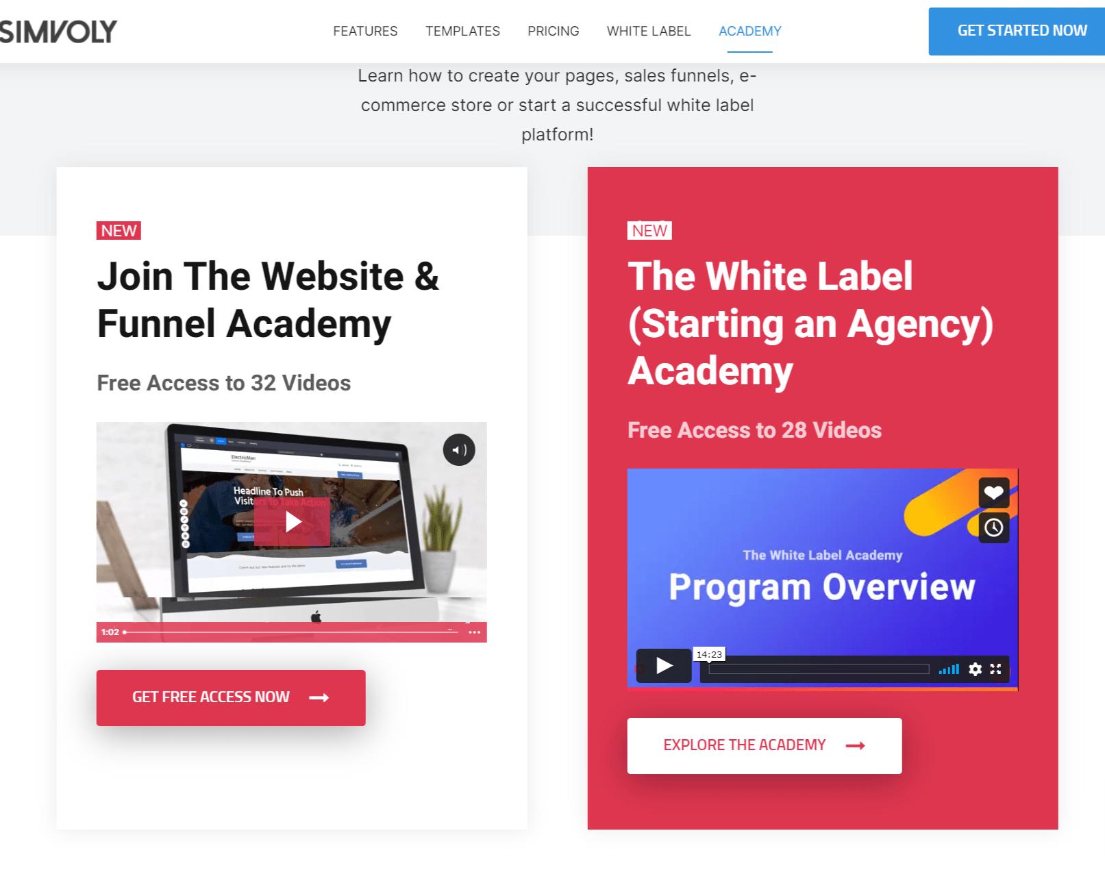 Simvoly Academy-simvoly vs webflow