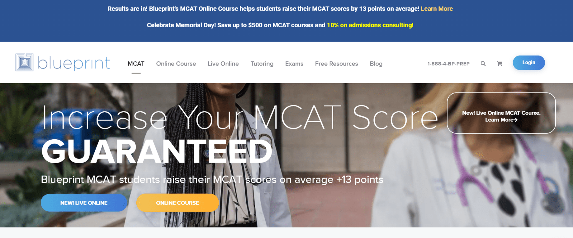 Blueprint MCATprep course overview