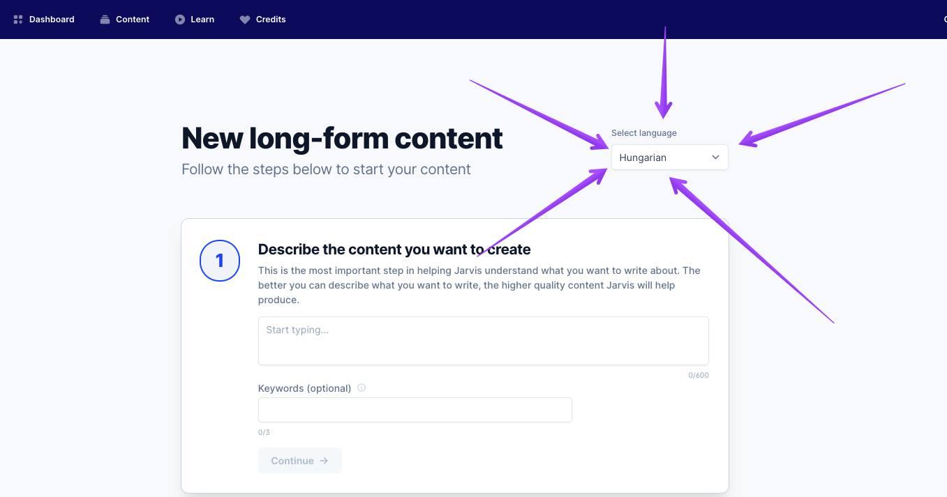 New form language template Conversion AI