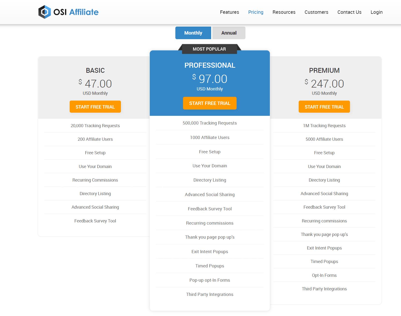 OSI Affiliate Pricing