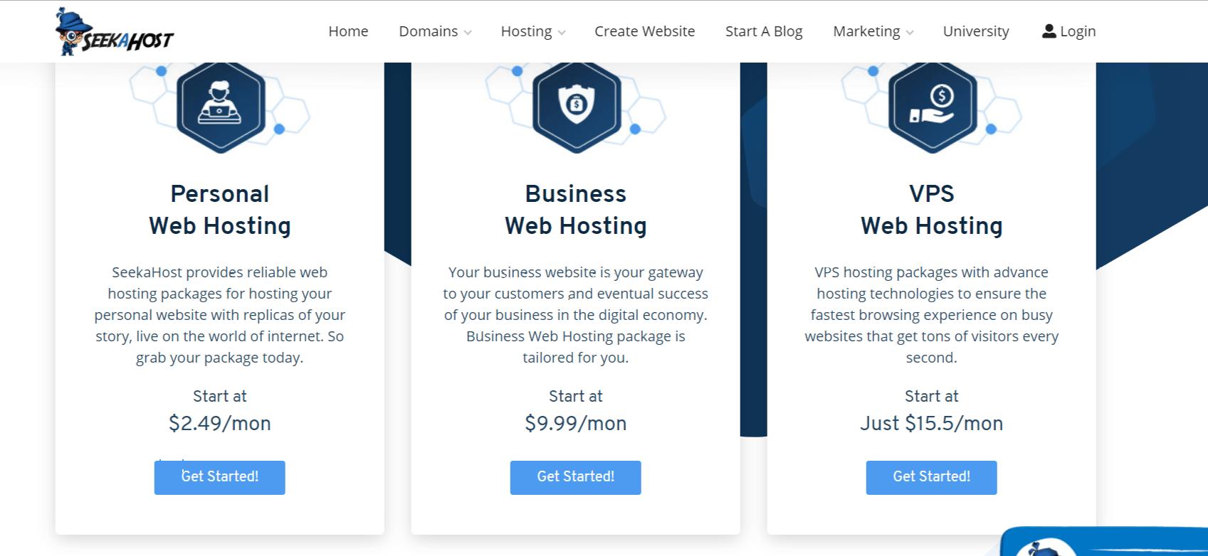 SeekaHost Pricing- Seekahost app review