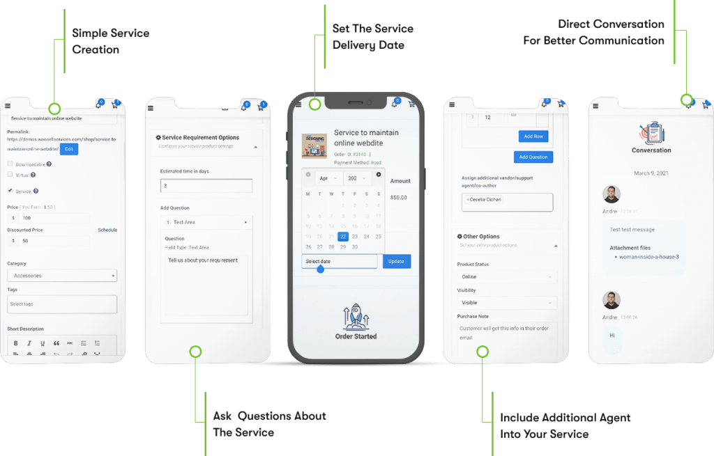 Service listing- Woo sell services Review