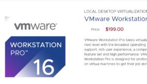 VMware Workstation 16 pro overview