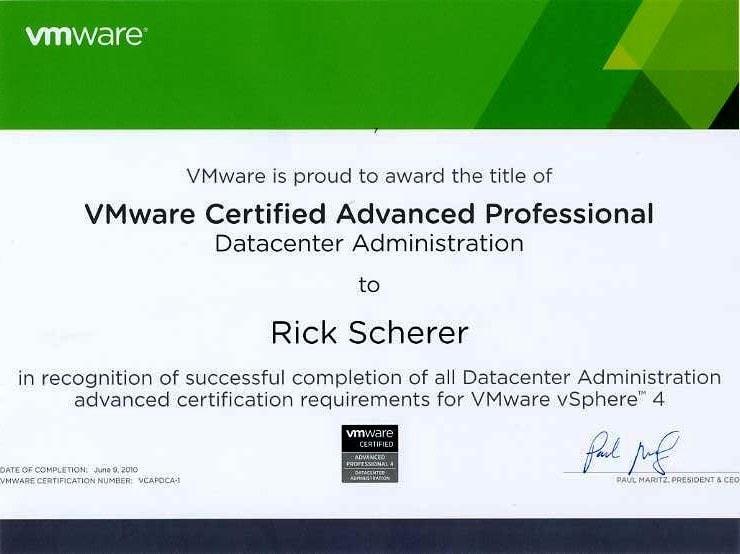 VMware ceretified professional levels- VMware ceretification