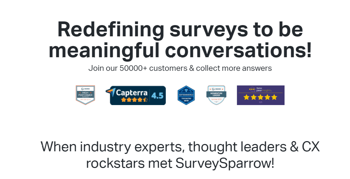 Wall of Love - Surveysparrow review