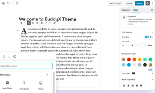 Wordpress compatible- BuddyX Review