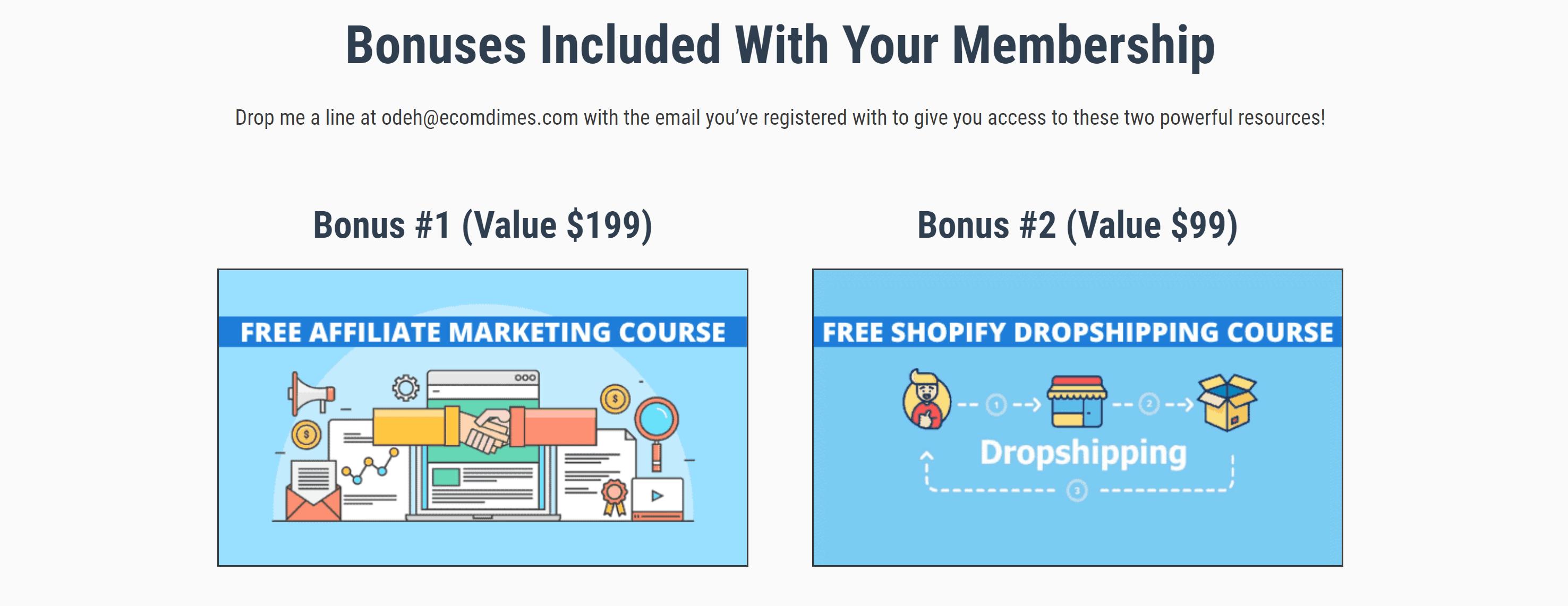 eComDimes benefits and bonus- best drop servicing businesss