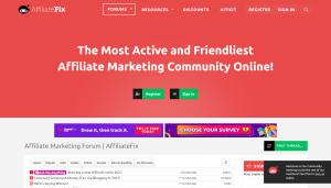 Best Affiliate marketig forums- AffiliateFix affiliate marketing forum