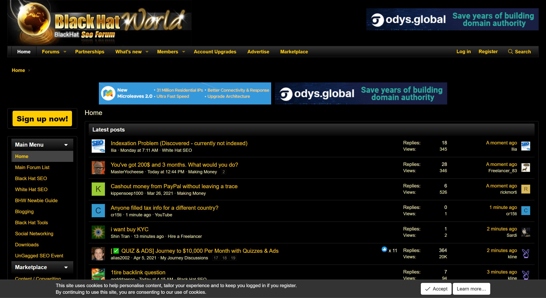 Best Affiliate marketing forums- BlackHat world for affiliate marketers