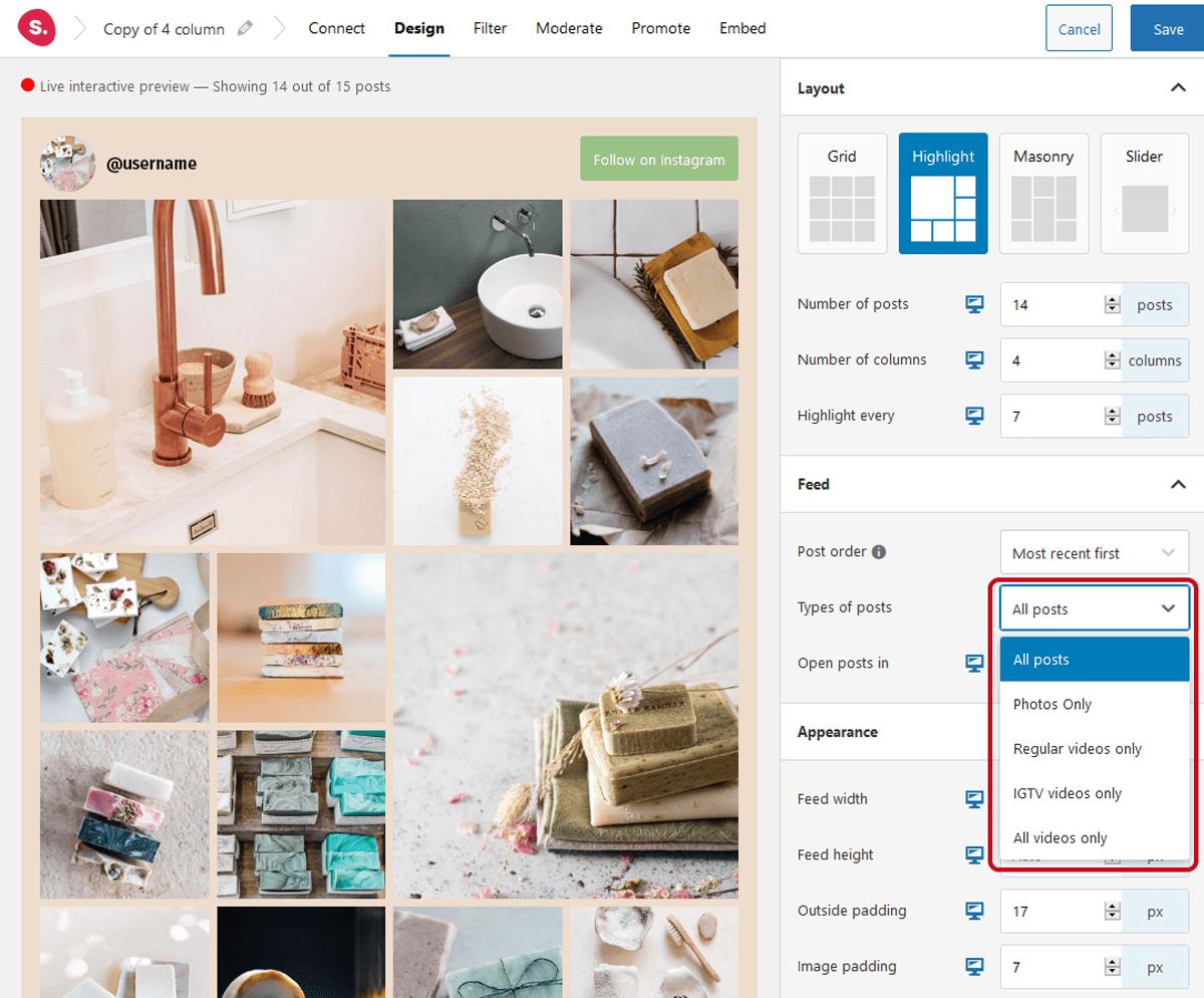 Designing tool-Spotlight instagram feeds review