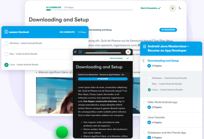 Distraction-free reading and Dark mode option-learnmate learndash Review