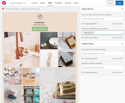 Filtering spotlight instagram feeds- Spotlight instagram feeds review