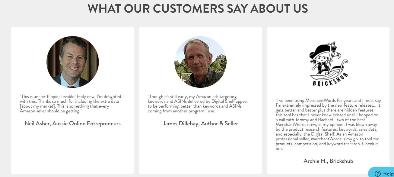 MerchantWords-Customer Reviews