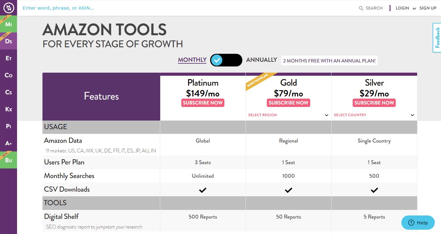 MerchantWords-Pricing