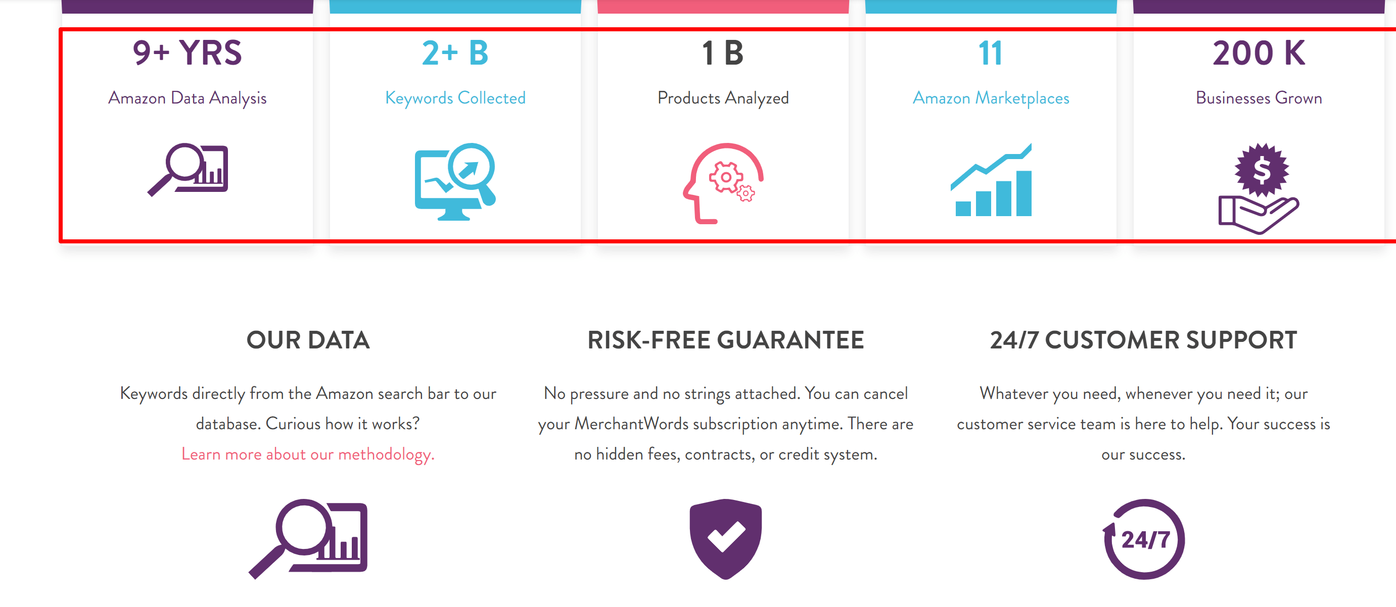 Merchantword review-Merchantwords customer stats and numbers