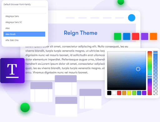 Typography and Theme skin- Learnmate Learndash Theme Reviw