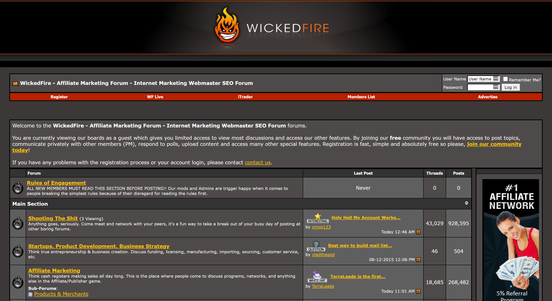 Wickedfire affiliate marketing forum