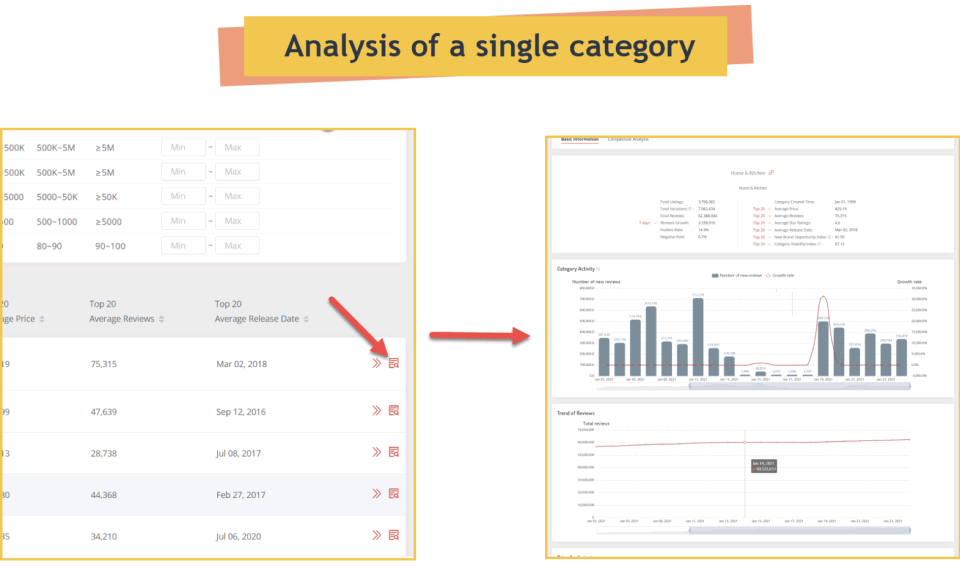 Analysis of a single category - Amzcart Review