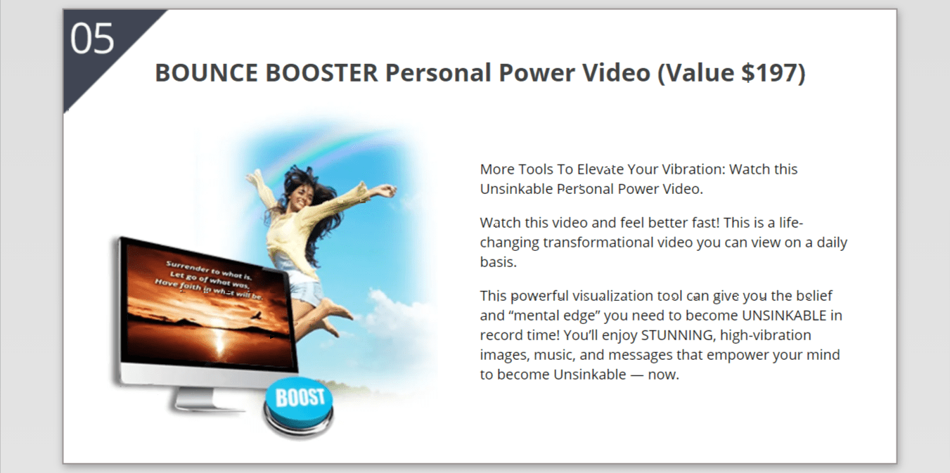 Bounce Booster personal power video