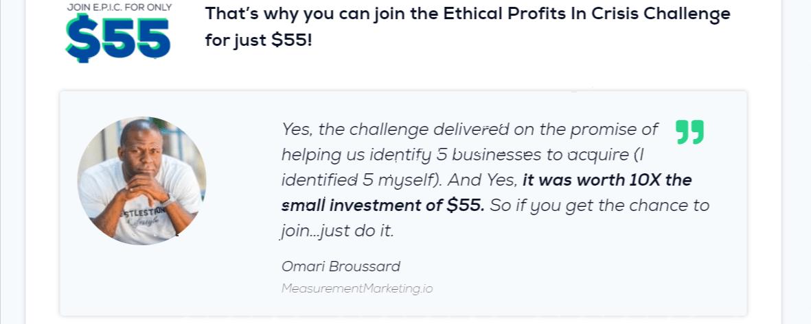 Ethical Profits - EPIC Challenge