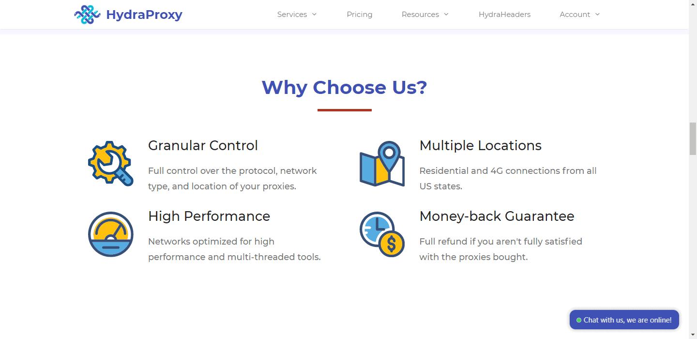 HydraProxy-Why Choose Us