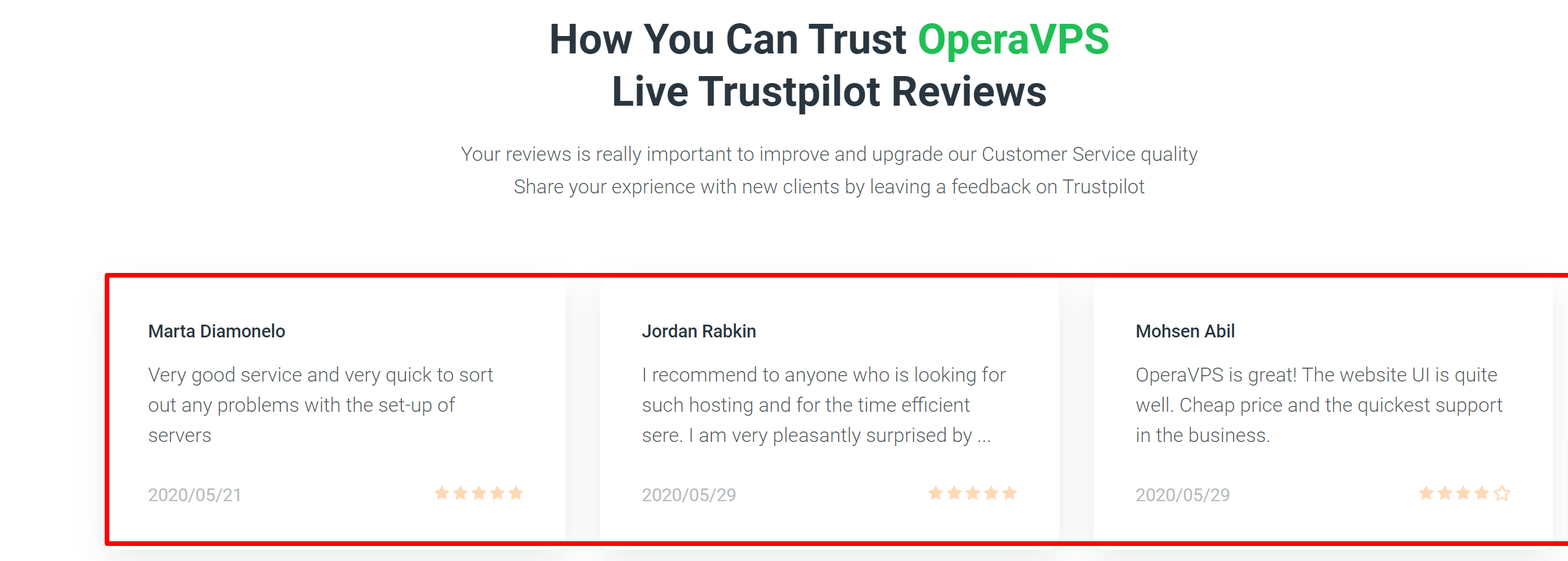 Opera VPs testimonials and reviews by customers