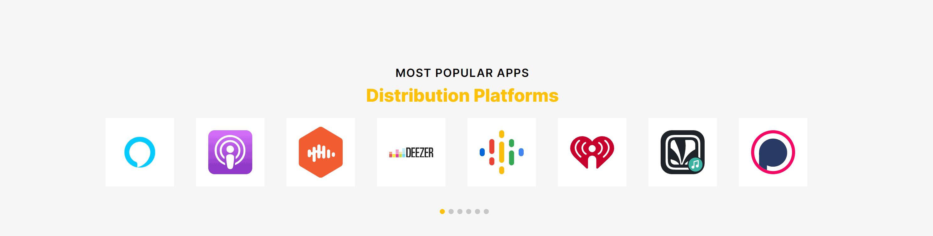 Spreaker discount coupons-Popular distribution apps for Spreaker