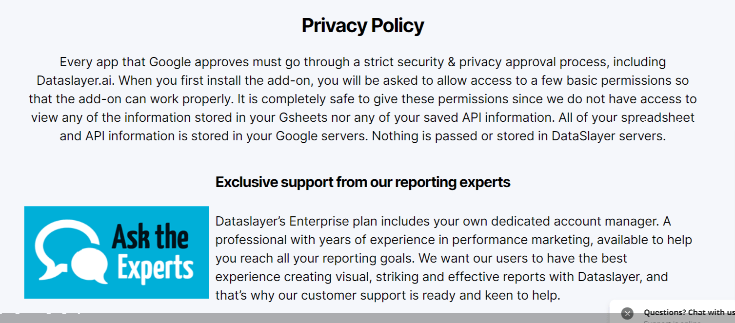 Privacy Policy- Dataslayer.ai Review