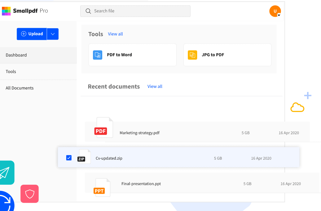 Smallpdf review-SmallPDF user interface