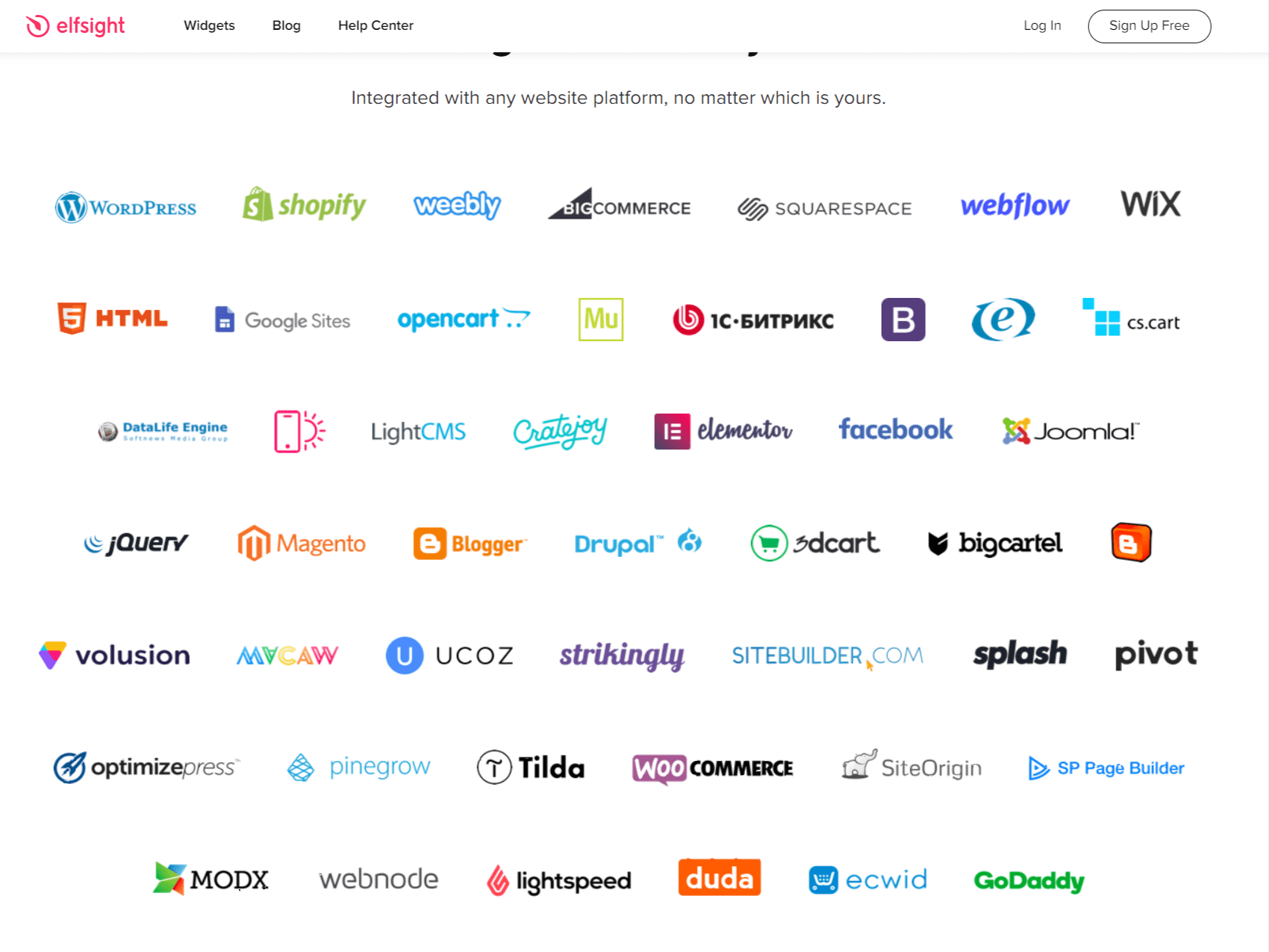 Widgets work on These platforms
