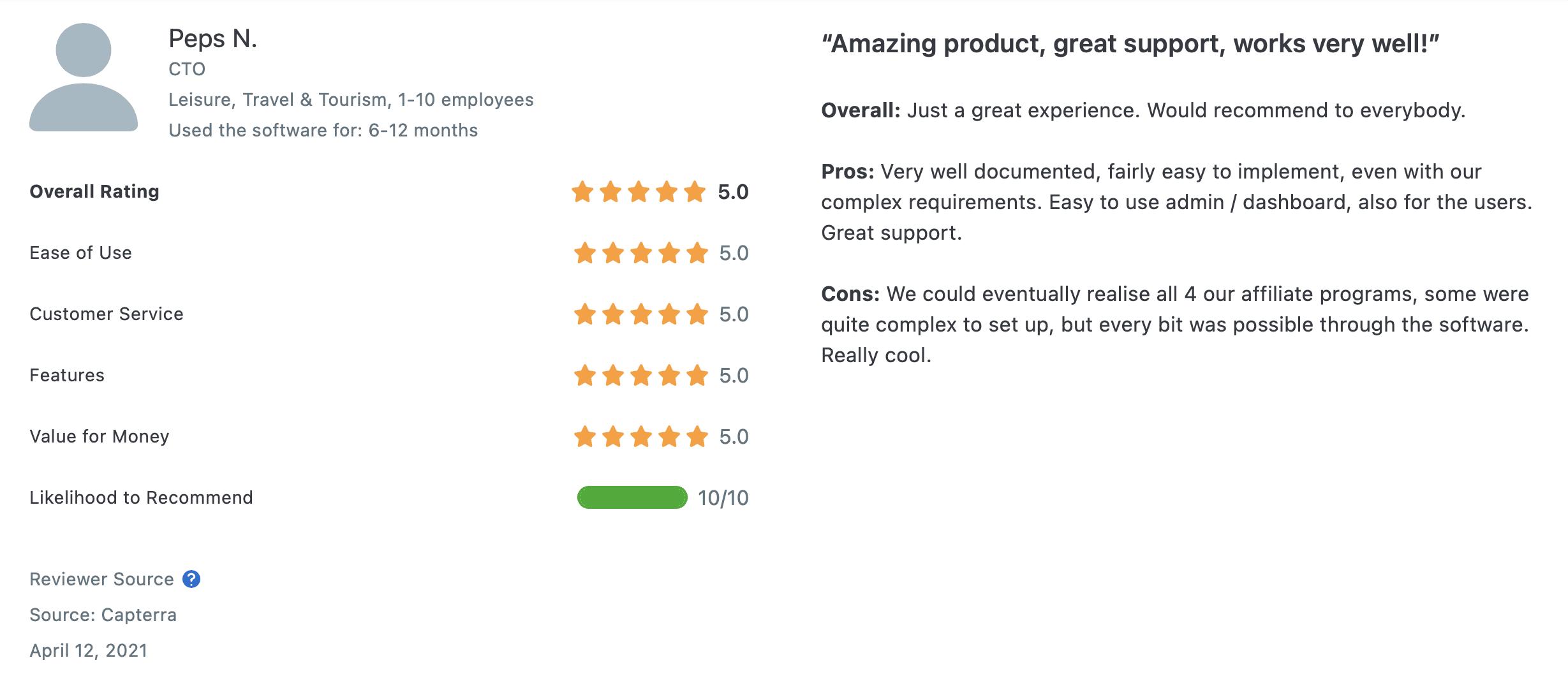 tapfiliate reviews