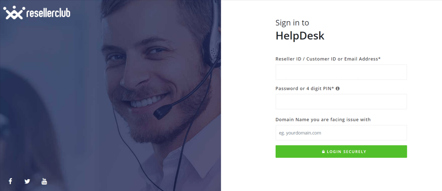 HelpDesk - Reseller Club Hosting