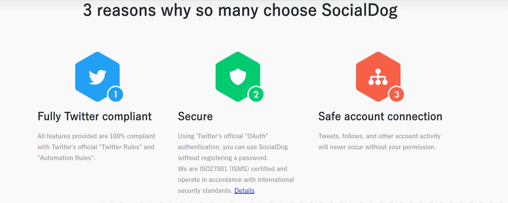 Reasons to choose SocialDog