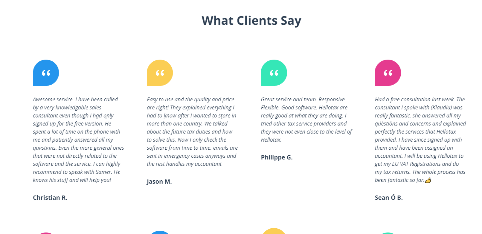 What client says