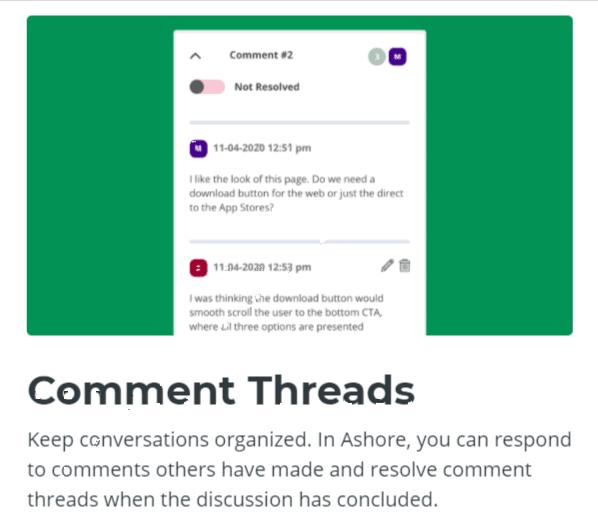 Comment Threads -Ashore App