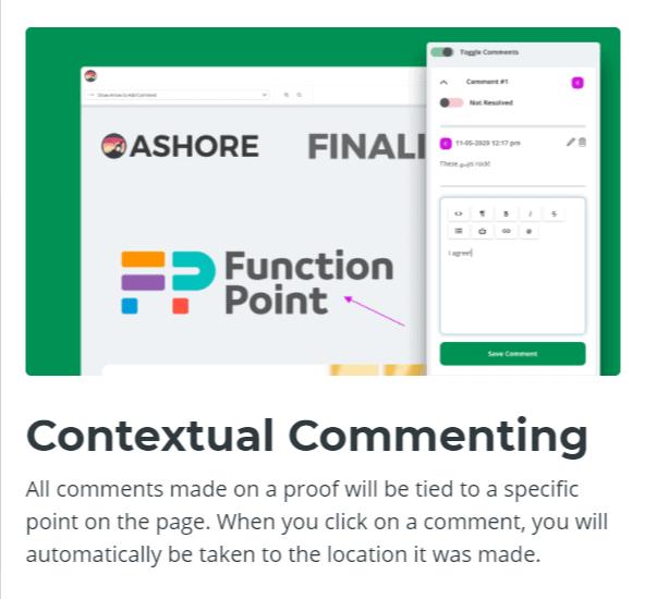 Contextual Commenting-Ashore App