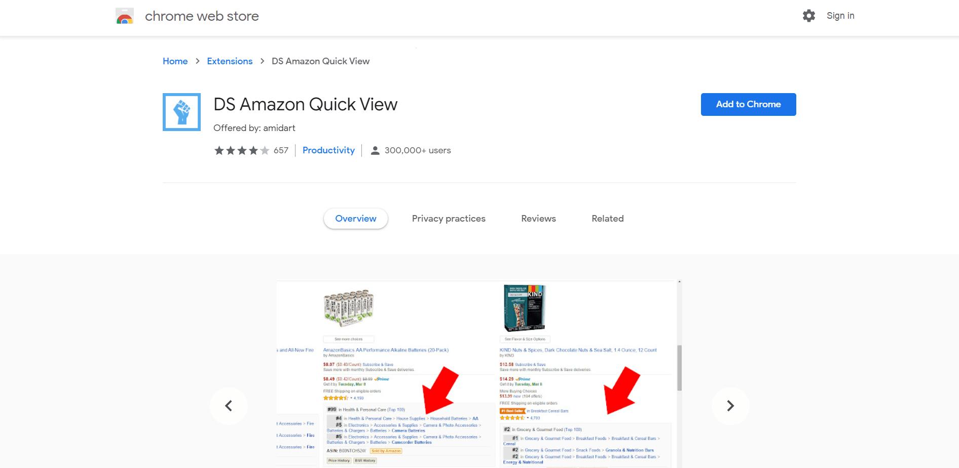 DS Amazon Quickview