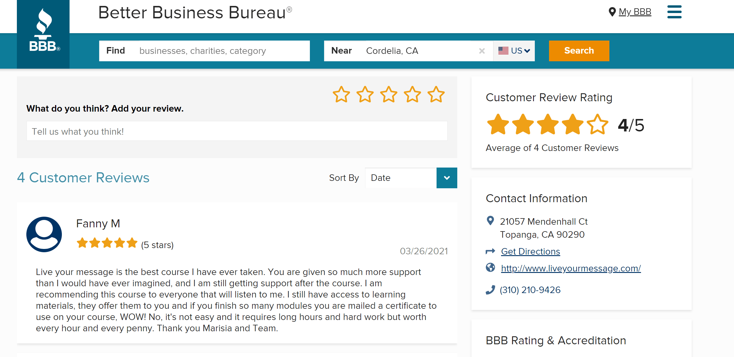 Experience-Product-Masterclass-Review by Marisa
