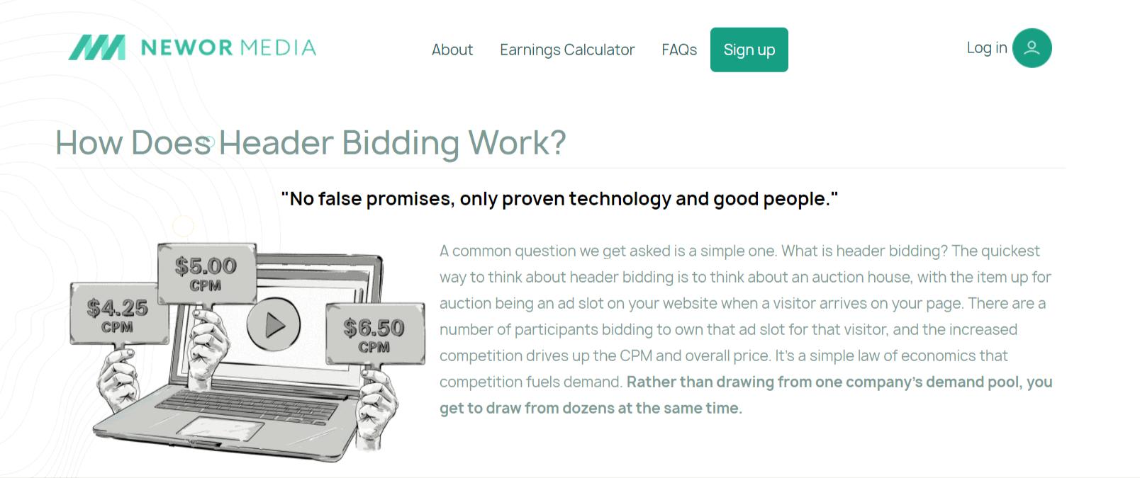 How does Header biding Works