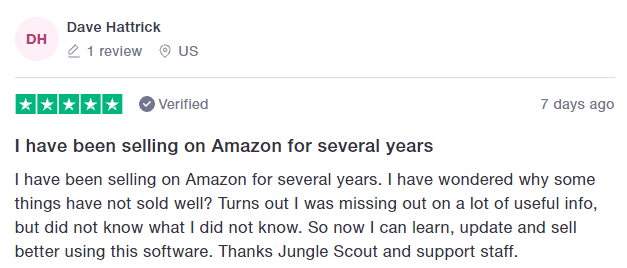 JungleScout User Review