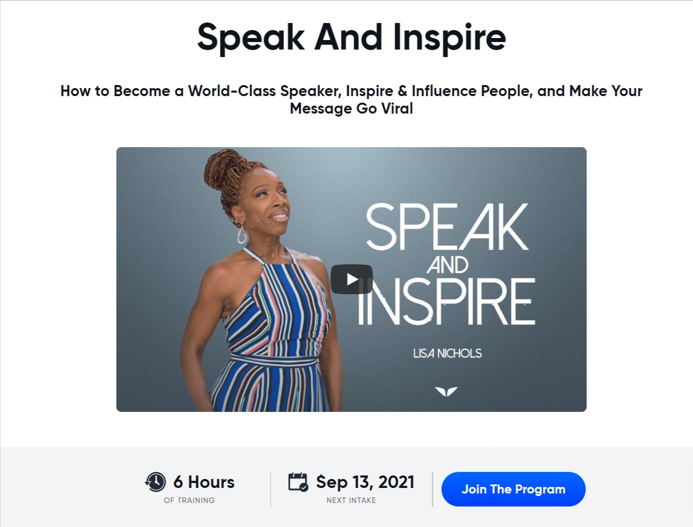 Lisa Nicolas- Mindvalley Public speaking