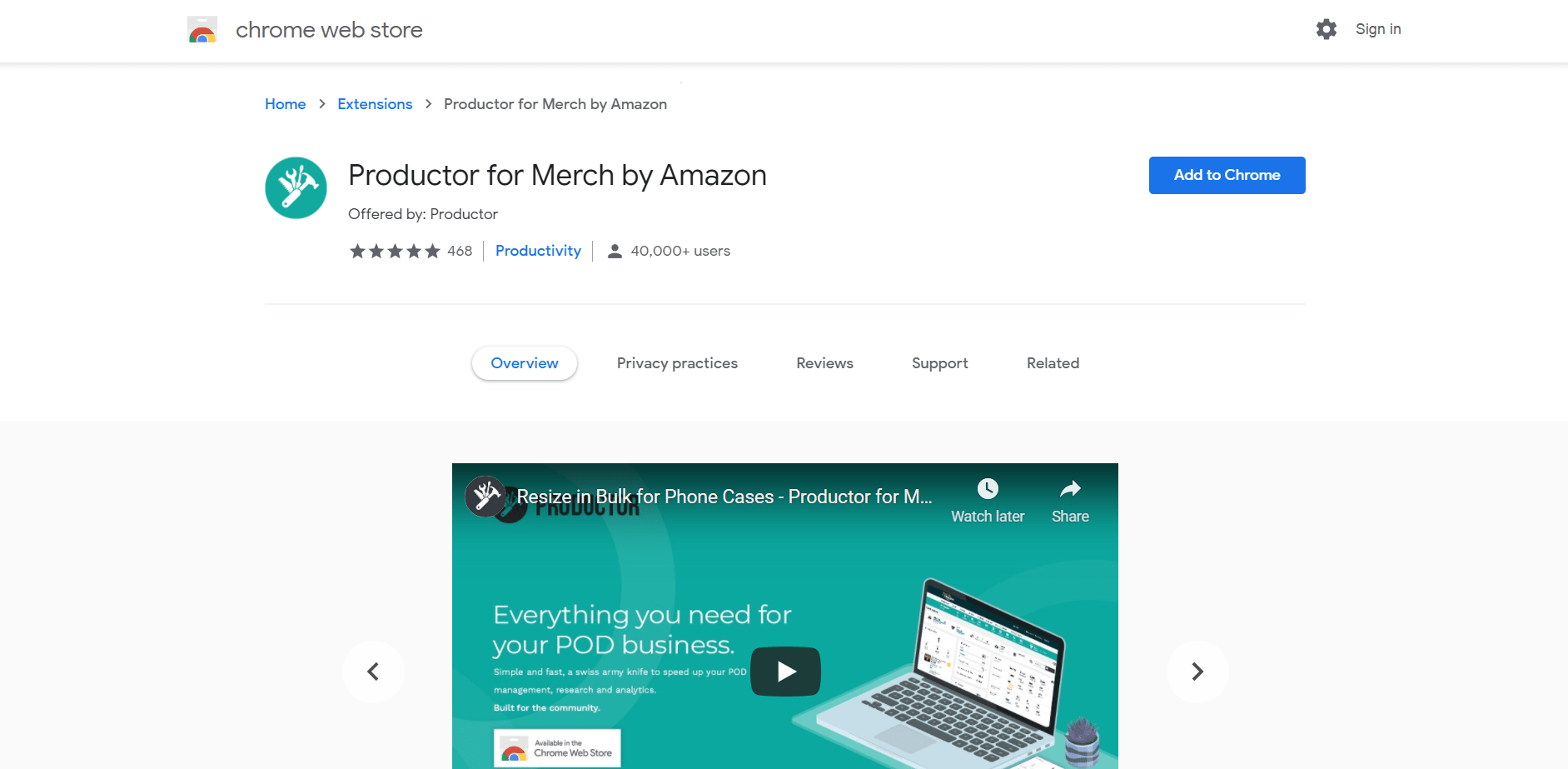 Productor for Merch by Amazon