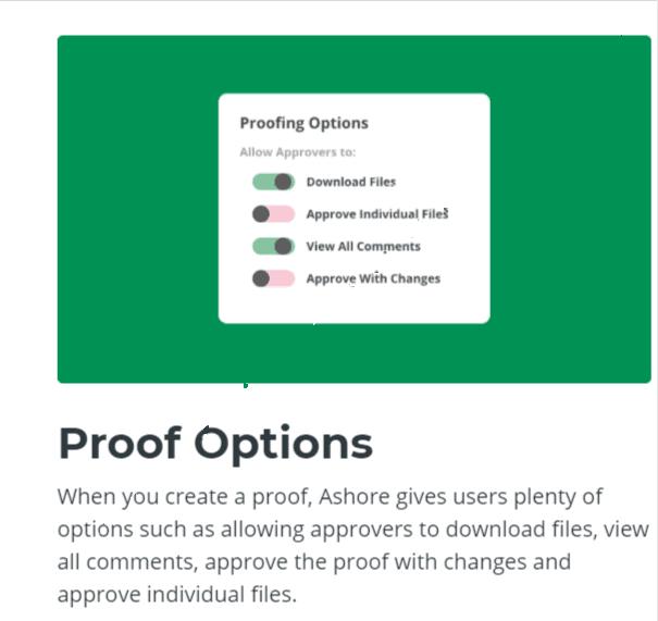 Proof options- Ashore App