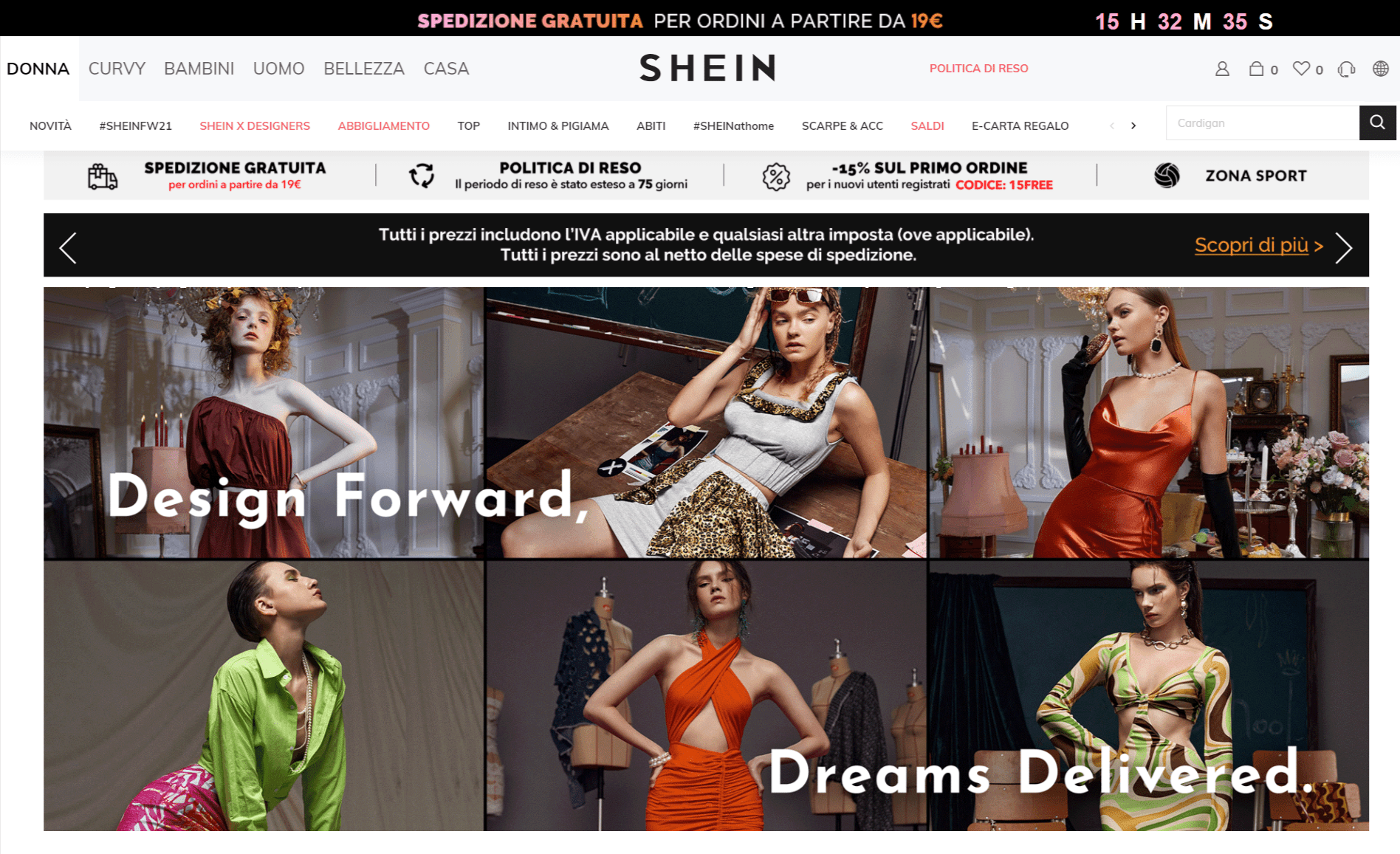 SHEIN Italy- Best Online Shopping Sites in Italy