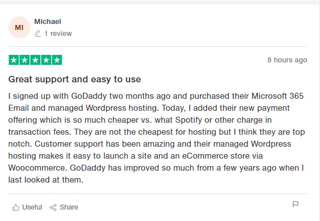GoDaddy User Reviews