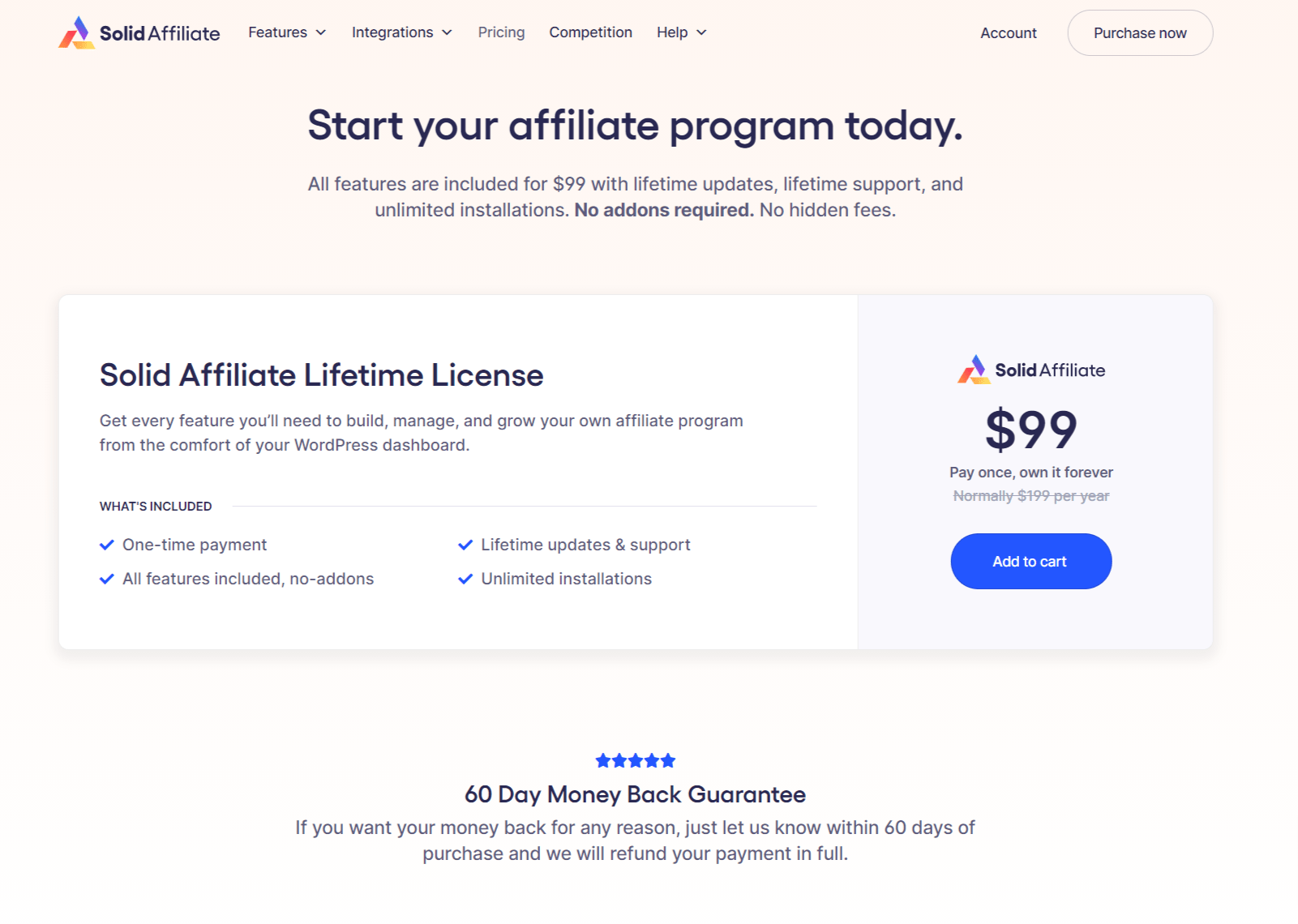 Solid Affiliate Pricing